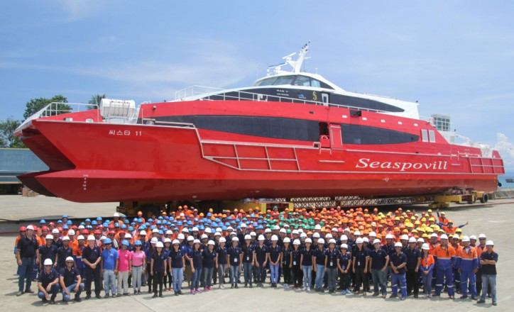 AUSTAL launches 50-metre high speed passenger ferry in Philippines