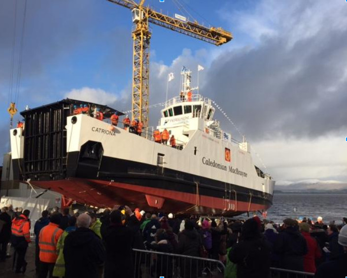Ferguson Marine Launched third Hybrid Ferry