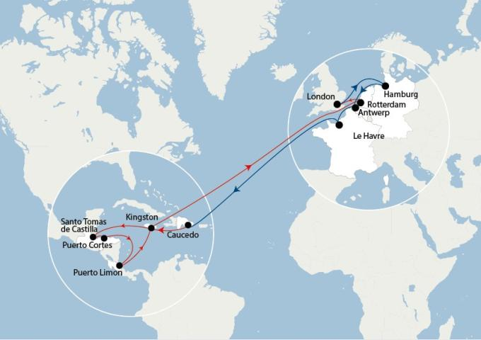 CMA CGM' ECS service between North Europe and Central America