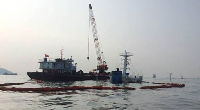 Chinese freighter sank on Guangzhou anchorage after collision