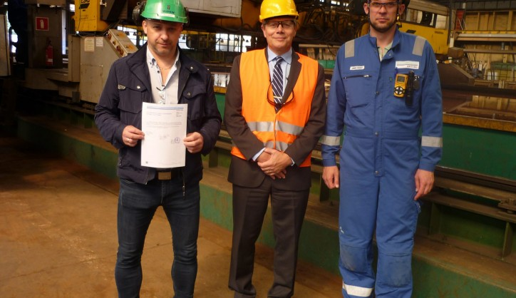 The DNV paper of the steel cutting has been signed