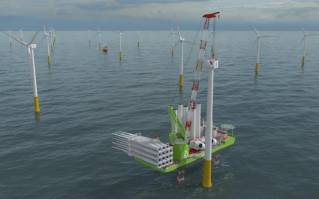 Huisman contracted by DSME to deliver 2,600mt Leg Encircling Crane for Eneti's new wind turbine installation vessel