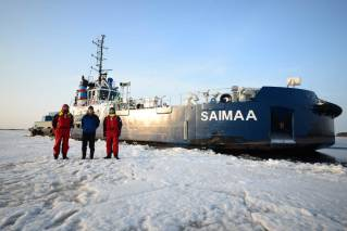Aker Arctic completes full scale Ice Trials of Icebreaking bow Saimaa and tug Calypso