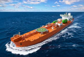 Two of the world's first LNG Dual-Fuel Dynamic Positioning Shuttle Tankers unveiled in South Korea