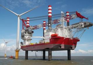 ICE Designed Vessel installing Japan's First Large Offshore Wind Farm
