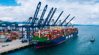 Record Engine Powers World's Largest Containership