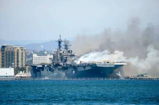 Fire Breaks Out on US Navy Ship in San Diego