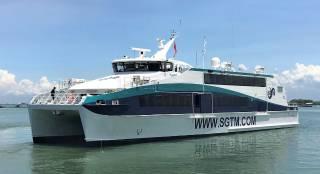 Austal Vietnam Delivers 41 metre catamaran ferry to SGTM Mauritius