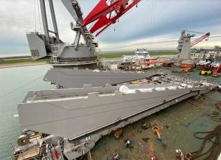 Jacket lift system is beginning to take shape on board Pioneering Spirit (Video)