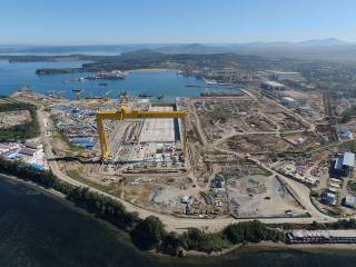 Zvezda Shipbuilding complex is finishing dry dock construction