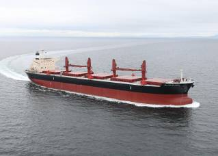 MES-S delivers a 66,000 dwt type bulk carrier JAL KALPATARU at its Tamano Shipyard