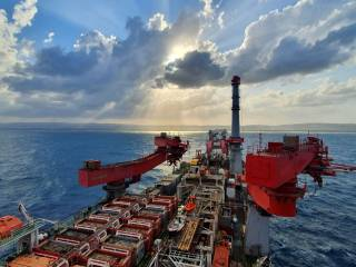 Allseas' Solitaire up and running offshore Israel
