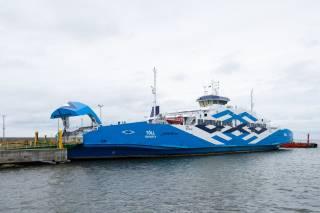 Estonia's first hybrid ship Tõll operates between Muhu and mainland Estonia