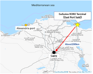 NYK Establishes First Exclusive RORO Terminal in Egypt