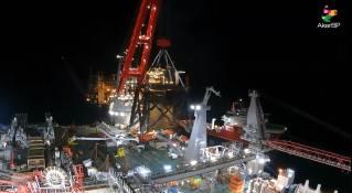 Pioneering Spirit lifts 2500-t QP lower jacket