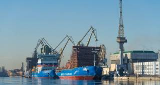 The keel of the new nuclear icebreaker was laid at the Baltic Shipyard