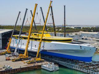 Austal Australia Rolls Out 118 Metre Trimaran For Fred.Olsen Express