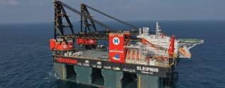 The world's largest semi-submersible crane vessel Sleipnir to arrive in the Port of Rotterdam