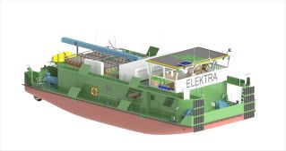 """Elektra"" flagship project: SCHOTTEL delivers propulsion units for world's first emission-free push boat"