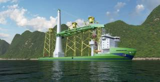 "Keel laying marks an important milestone for first Taiwanese Offshore Installation vessel ""Green Jade"""