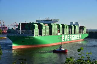 World's largest container ship called at Hamburg