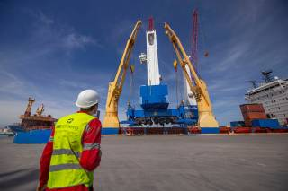 New Mobile Harbor Cranes Arrive at Port of Brownsville