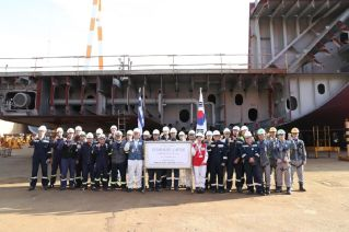 Samsung Heavy Industries Lays Keel for GasLog's 174,000 cbm LNG Carrier