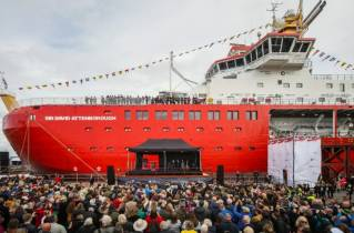 RRS Sir David Attenborough Fires Up