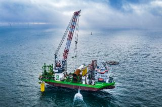 Foundation installation successfully completed at Belgium's largest offshore wind farm