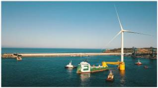 Bourbon Subsea Services collaborates in the installation of the third floating wind turbine for the Windfloat Atlantic project