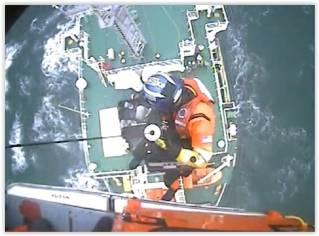 US Coast Guard aircrew medevacs cargo ship captain off Ocean City