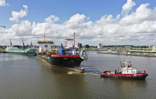 LNG Trailing Suction Hopper Dredger Ecodelta Returns To Niestern Sander Shipyard