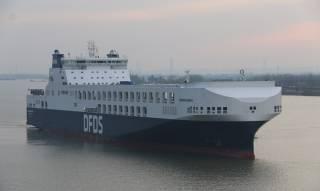 Nanjing Jinling Yizheng's shipyard delivers last DFDS mega ro-ro
