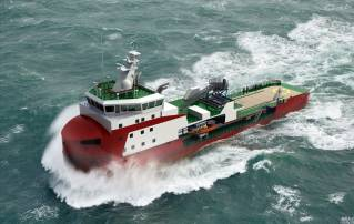 Royal Niestern Sander awarded contract for the construction of the world's first shallow draft ice-breaking walk to work vessel