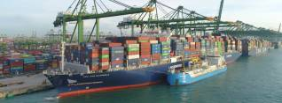 Asia's First Ship-to-Containership LNG Bunkering undertaken by CMA CGM and FueLNG at the Port of Singapore