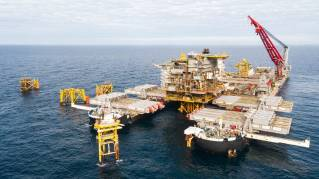 Pioneering Spirit removes Tyra East and West platforms