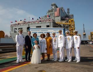 WATCH: General Dynamics NASSCO Christens the First Ship in the T-AO Fleet Oiler Program for the U.S. Navy