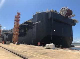 FPSO hull arrives in Brazil for module integration