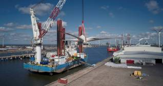 Shore power connection at Wagenborg terminal Eemshaven