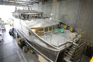 Spotted: World Heritage Cruises' Eighth Incat Crowther Catamaran Under Construction