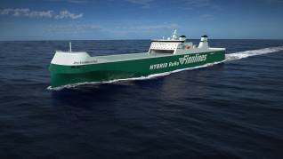 The construction of the second Finnlines hybrid ro-ro vessel started