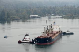 US Coast Guard responds to vessel aground on Columbia River sand bar