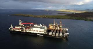 Disused gas platforms to be removed by world's largest vessel