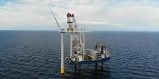Jan De Nul halfway through installation of a 600 mw Kriegers Flak wind farm