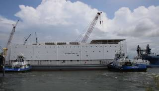 Halter Marine Launches First Two U.S. Navy Berthing Barges