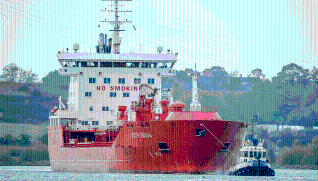 The Port of Ipswich receives its largest ever vessel of liquid nitrogen