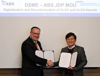 ABS and DSME Sign Digitalization and Decarbonization JDP Agreement
