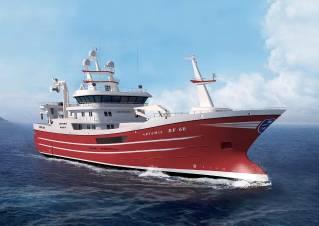 Kongsberg Maritime Supply Simrad Sonar equipment for 75M Pelagic Trawler Artemis