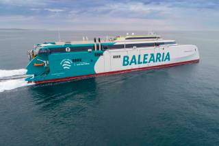 Baleària LNG-powered fast ferry starts sea trials