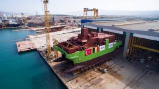 Launch of DEME's first ever service operation vessel Groene Wind